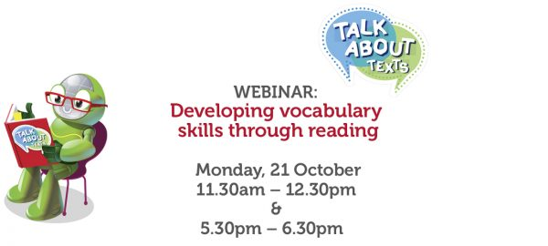 WEBINAR: Developing vocabulary skills through reading