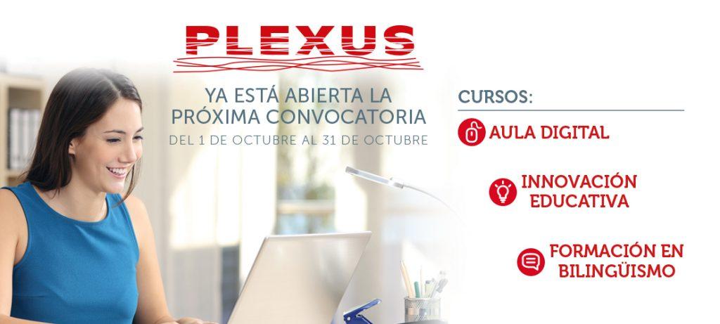 Nueva convocatoria Cursos Online PLEXUS Octubre 2019
