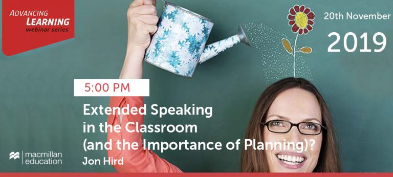Jon Hird - Extended Speaking in the Classroom (and the Importance of Planning) (repeated)