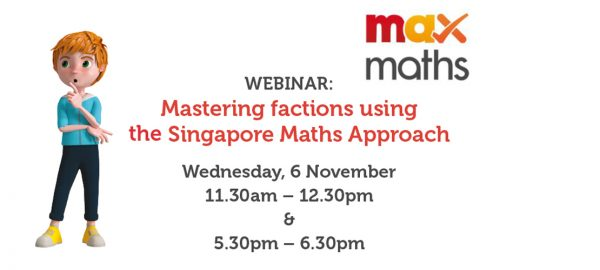 WEBINAR: Mastering factions using the Singapore Maths Approach