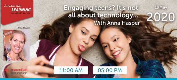Anna Hasper - Engaging teens? It's not all about technology...