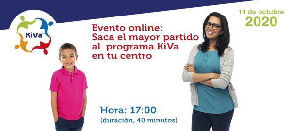 Evento online: Saca el mayor partido al programa KiVa en tu centro